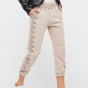 FREE PEOPLE Three Wishes Embellished Joggers